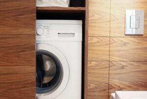 Обустройство стиральной машины в ванной